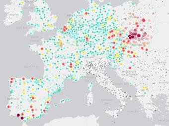 Interaktivna Karta Pokazva Kakvo E Zamrsyavaneto Na Vzduha V